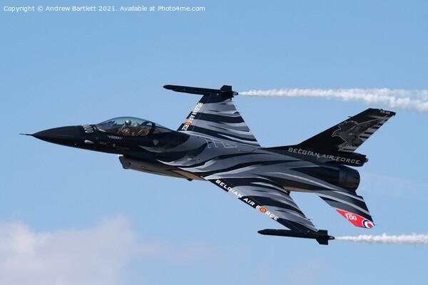 Belgian F-16MLU 'Dark Falcon'  Print by Andrew Bartlett