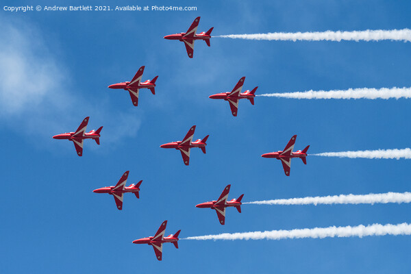 RAF The Red Arrows Canvas Print by Andrew Bartlett