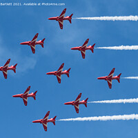 Buy canvas prints of RAF The Red Arrows by Andrew Bartlett