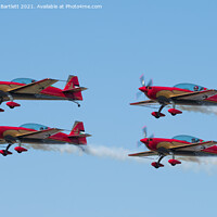 Buy canvas prints of Royal Jordanian Falcons by Andrew Bartlett