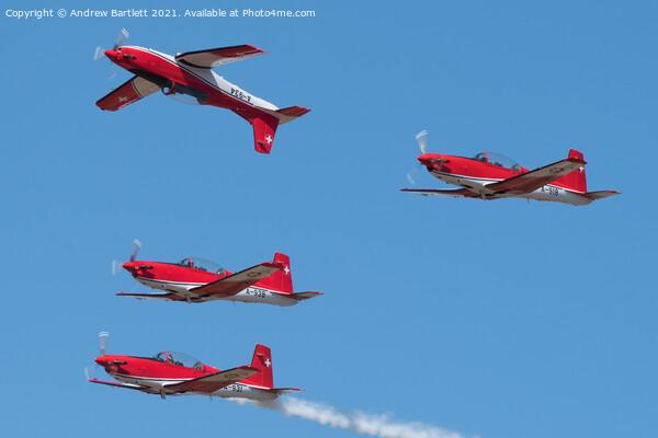 Swiss Air Force PC-7 Team Pilatus NPC-7 Framed Mounted Print by Andrew Bartlett