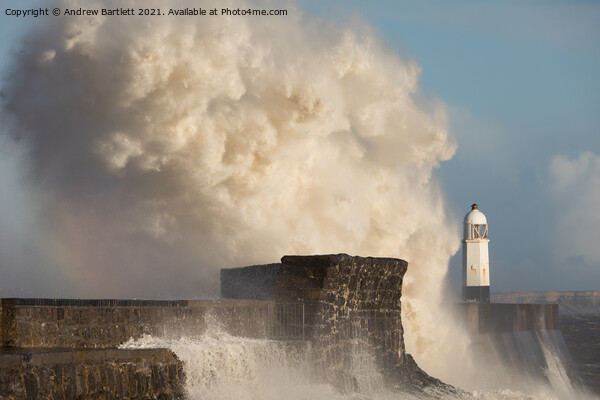 Porthcawl waves 11 March '20 Canvas Print by Andrew Bartlett