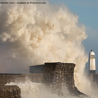 Buy canvas prints of Porthcawl waves 11 March '20 by Andrew Bartlett