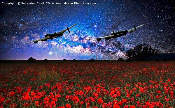 Lancs at night Canvas print by Sebastien Coell