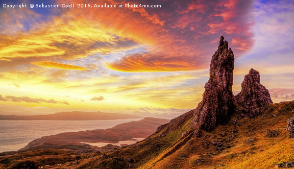 Old man of Storr.. Canvas Print by Sebastien Coell