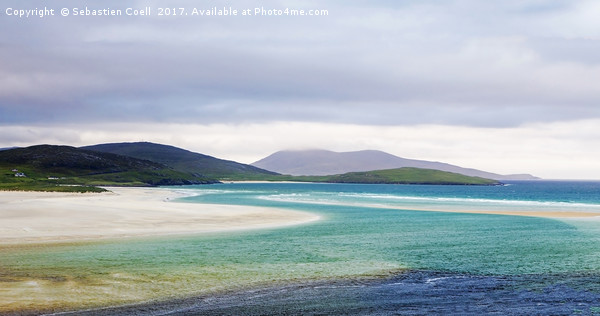 Luskentyre beach on the Scottish isle of Harris Canvas print by Sebastien Coell