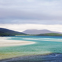 Buy canvas prints of Luskentyre beach on the Scottish isle of Harris by Sebastien Coell