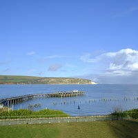 Buy canvas prints of Swanage Pier by Paul Chambers