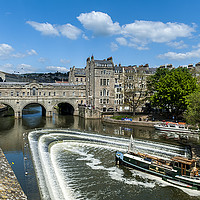 Buy canvas prints of Pulteney Bridge Bath by Paul Chambers