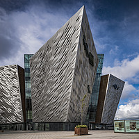 Buy canvas prints of The Titanic Museum, Belfast by Mark Tomlinson