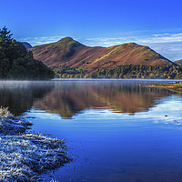 Buy canvas prints of Derwent Water - A Winter's Day by Tony Sharp