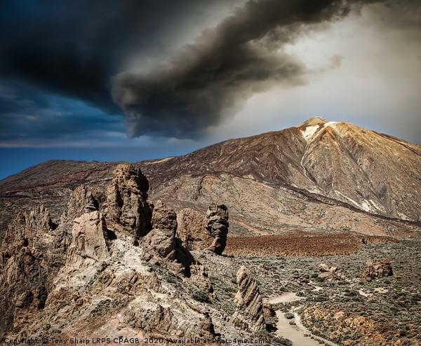 MOUNT TEIDE CALDERA Canvas print by Tony Sharp LRPS CPAGB