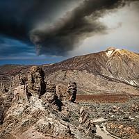 Buy canvas prints of MOUNT TEIDE CALDERA by Tony Sharp LRPS CPAGB