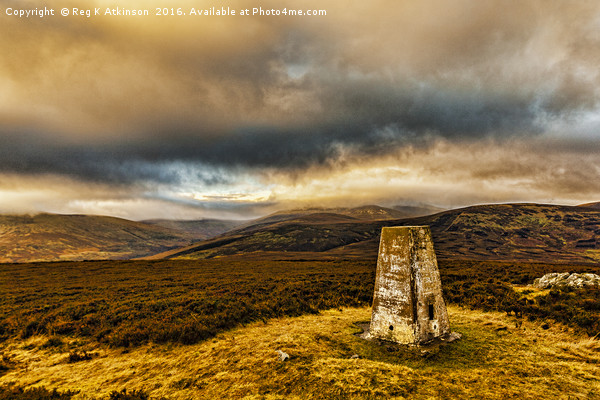 Cheviot Under Cloud from Coldlaw Canvas Print by Reg K Atkinson