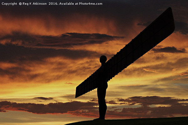 Angel Of The North Framed Mounted Print by Reg K Atkinson