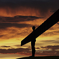Buy canvas prints of Angel Of The North by Reg K Atkinson