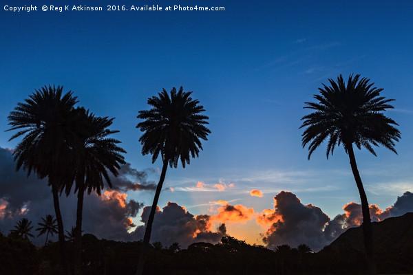 Hawaiian Sunrise Framed Print by Reg K Atkinson