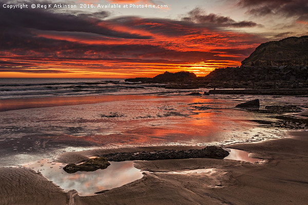 Sunrise Over Featherbed Rock Canvas Print by Reg K Atkinson