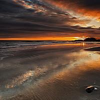 Buy canvas prints of Featherbed Rock Sunrise by Reg K Atkinson