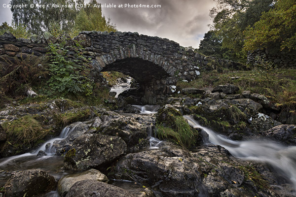 Ashness Bridge Canvas Print by Reg K Atkinson