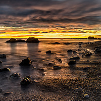 Buy canvas prints of Sunrise At Seaham's Chemical Beach by Reg K Atkinson