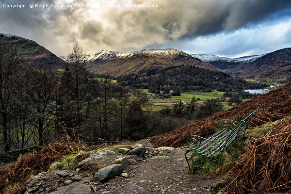 A View Over Patterdale Canvas Print by Reg K Atkinson