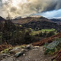 Buy canvas prints of A View Over Patterdale by Reg K Atkinson