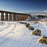 Buy canvas prints of Ribblehead Viaduct - Winter by Reg K Atkinson