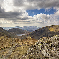 Buy canvas prints of Griesdale Tarn From St Sunday Crag by Reg K Atkinson