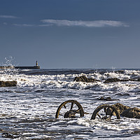 Buy canvas prints of Wheels and Surf by Reg K Atkinson