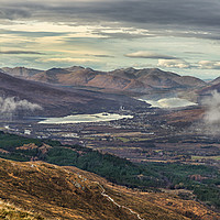 Buy canvas prints of Fort William From Ben Nevis by Reg K Atkinson