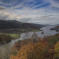 Buy canvas prints of Loch Tummel from Queens View by Reg K Atkinson