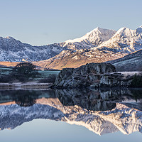 Buy canvas prints of Snowdon Horseshoe by Lee Sutton