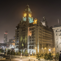 Buy canvas prints of  liver building Liverpool waterfront  by Steven Blanchard