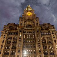 Buy canvas prints of Liver building Liverpool pier head by Steven Blanchard