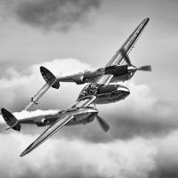 Buy canvas prints of  P-38 Lightning by Ian Merton