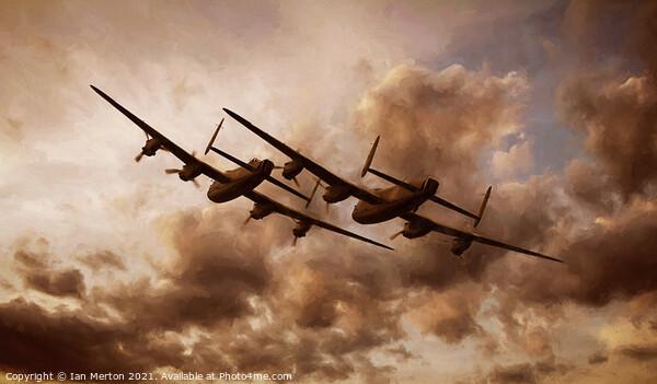 Lancaster's Framed Print by Ian Merton