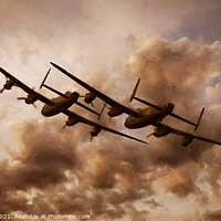 Buy canvas prints of Lancaster's by Ian Merton
