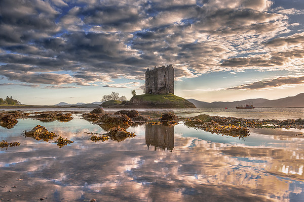 Castle Stalker Reflected Canvas Print by Nicholas Rowland