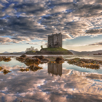 Buy canvas prints of  Castle Stalker Reflected by Nicholas Rowland