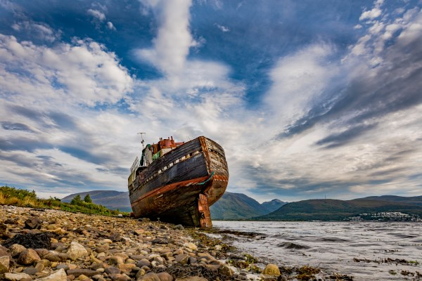 Corpach Wreck Canvas Print by Nick Rowland