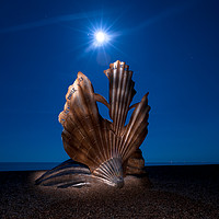Buy canvas prints of The Scallop at Night by Nick Rowland