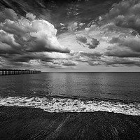 Buy canvas prints of Moody Sky at Felixstowe by Nick Rowland