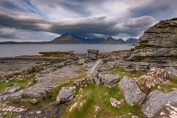 Black Cuillins from Elgol beach Canvas print by Nick Rowland