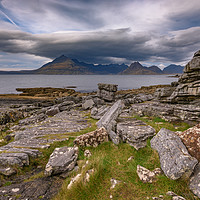 Buy canvas prints of Black Cuillins from Elgol beach by Nick Rowland
