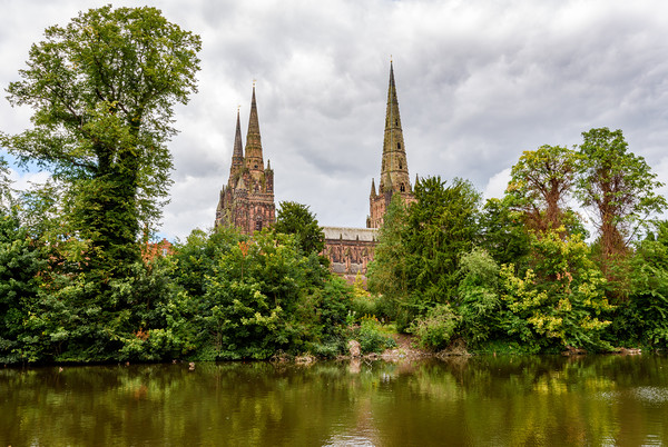 Lichfield Cathedral Canvas Print by Nick Rowland