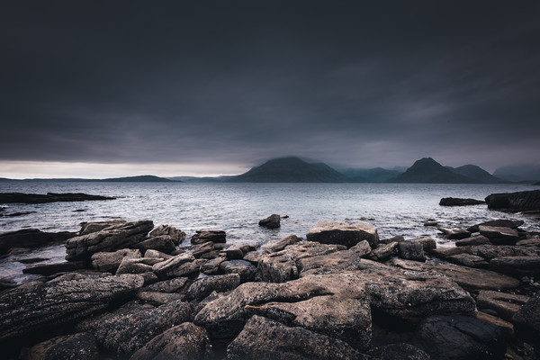 The Black Cuillins from Elgol Beach Canvas print by Nick Rowland
