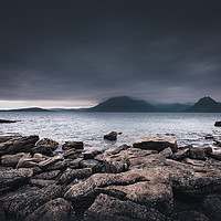 Buy canvas prints of The Black Cuillins from Elgol Beach by Nick Rowland