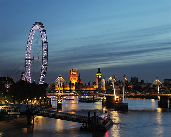westminster and southbank sunset Canvas print by steve ullathorne