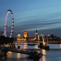 Buy canvas prints of westminster and southbank sunset by steve ullathorne